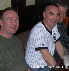 winning pub quiz team at Dr Paul pub quiz