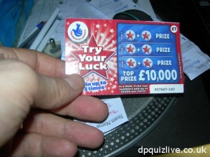 ten thousand pounds scratch-card