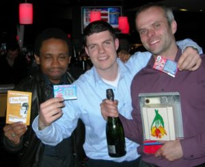 Dr Paul quiz winners at the newsroom