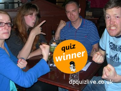quiz winners at the reverie