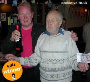 Dusty and Stewart, pub quiz winners at Jenny Ha's