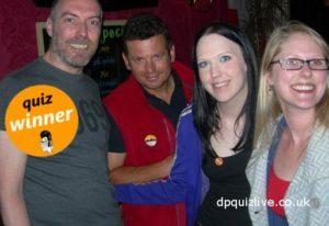 pub quiz team winning at The Reverie, NEwington, Edinburgh