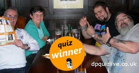 Pub Quiz winning team