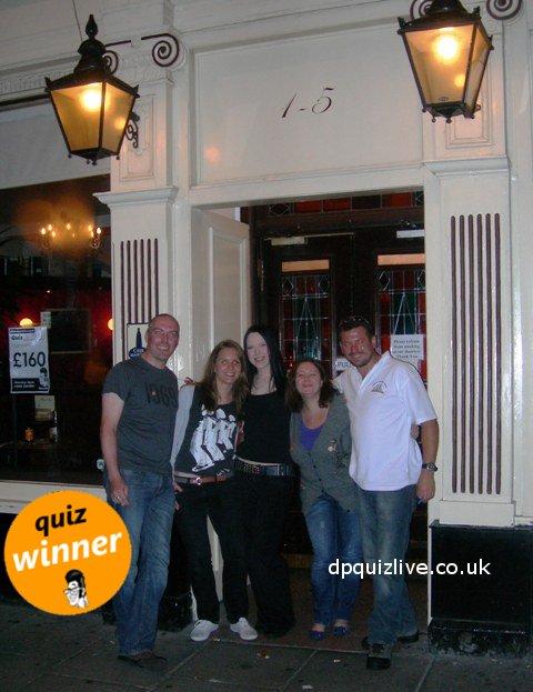 dr paul pub quiz winners,  Edinburgh