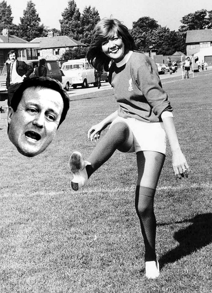 cilla black kicking david camerons head