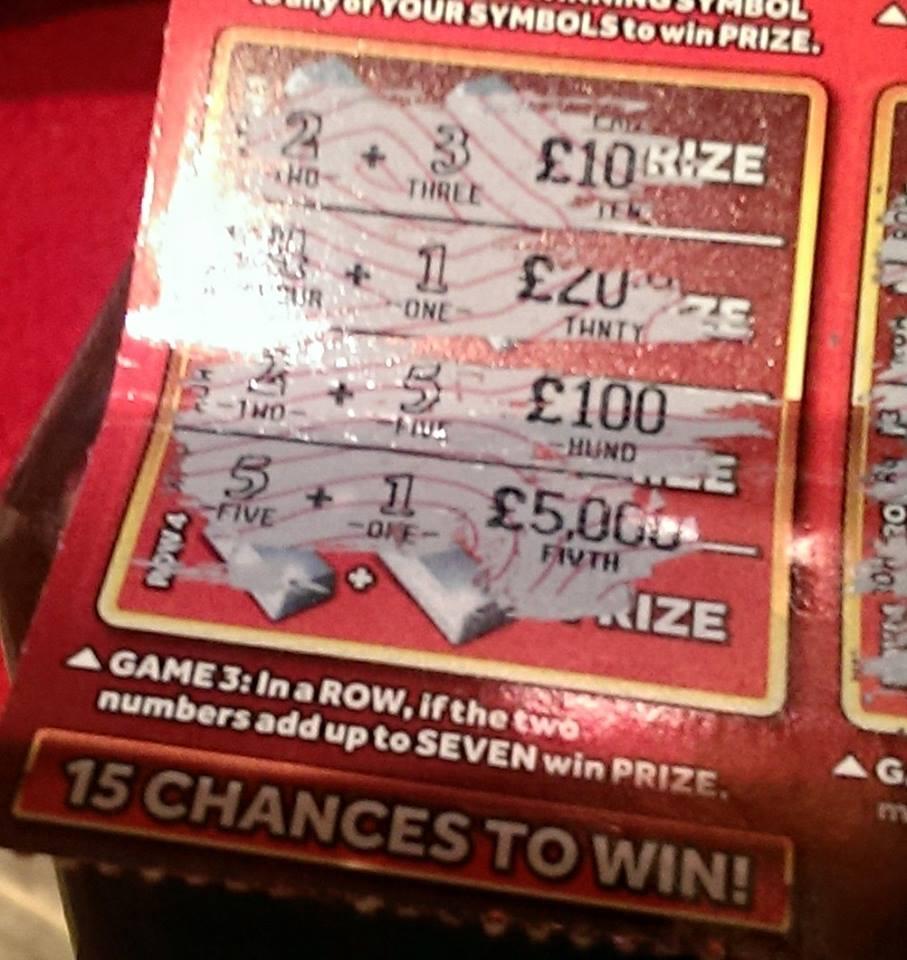 _winning scratchie £100