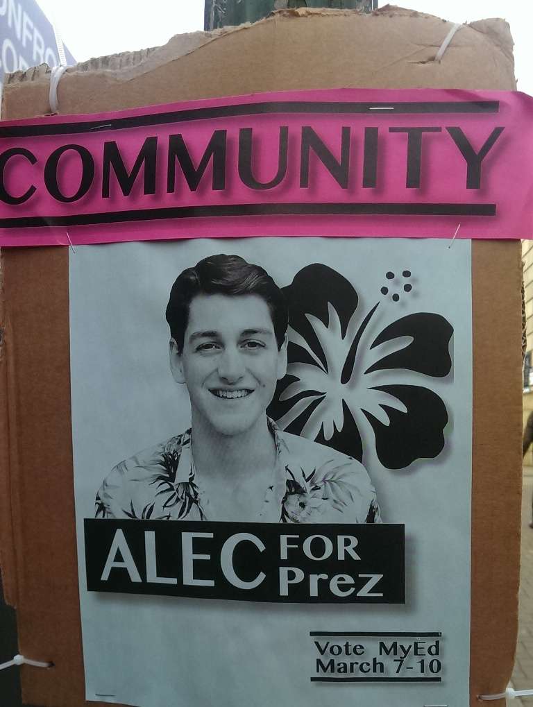 edinburgh uni election posters ALEC
