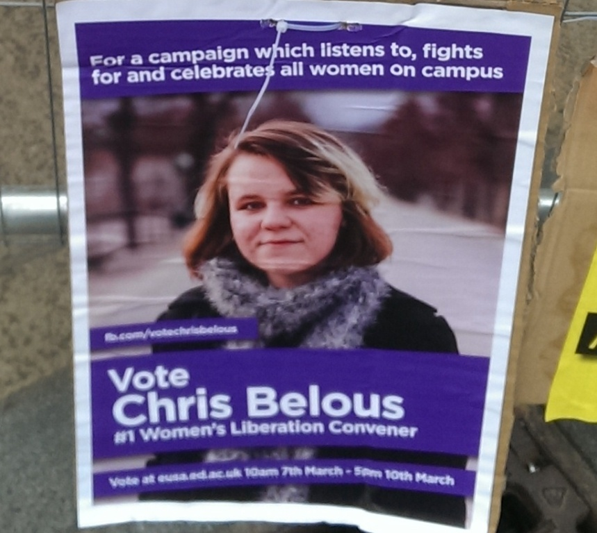 edinburgh uni election posters CHRIS BELOUS