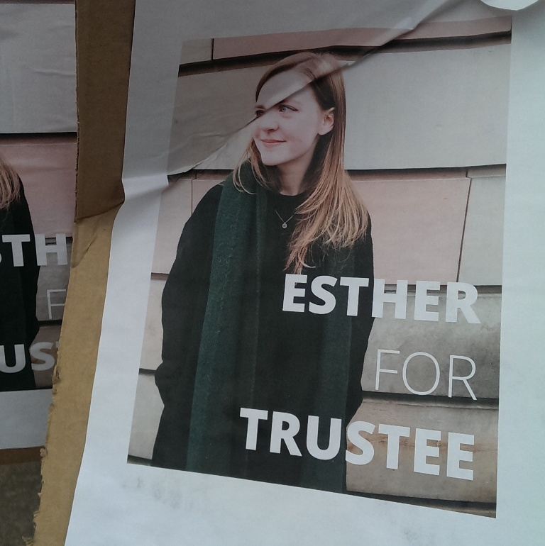 edinburgh uni election posters ESTHER
