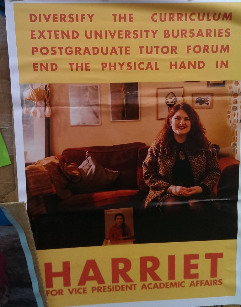 edinburgh uni election posters HARRIET