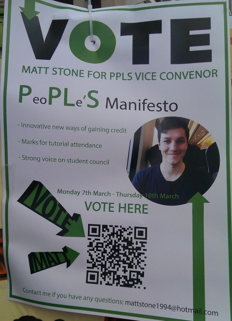 edinburgh uni election posters MATT STONE