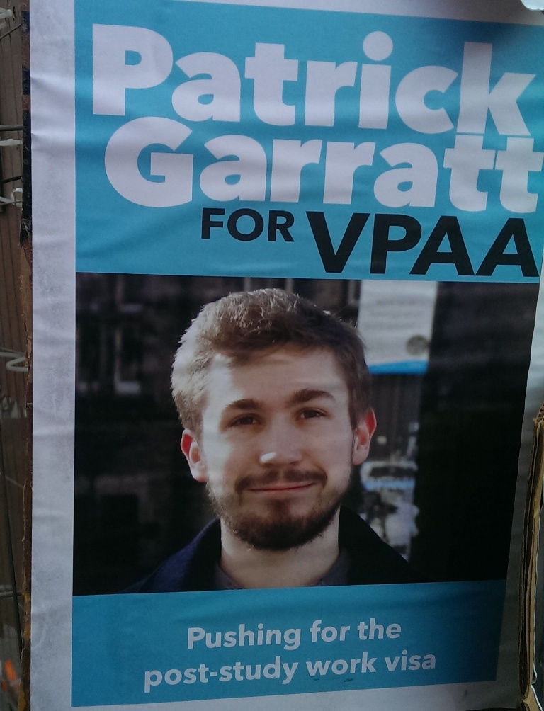 edinburgh uni election posters PATRICK GARRAT