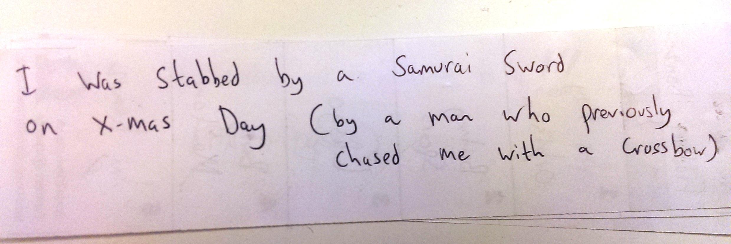 AMAZING FACT sam samurai