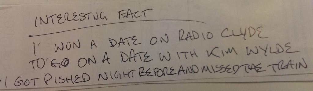 AMAZING FACT KIM WYLDE DATE