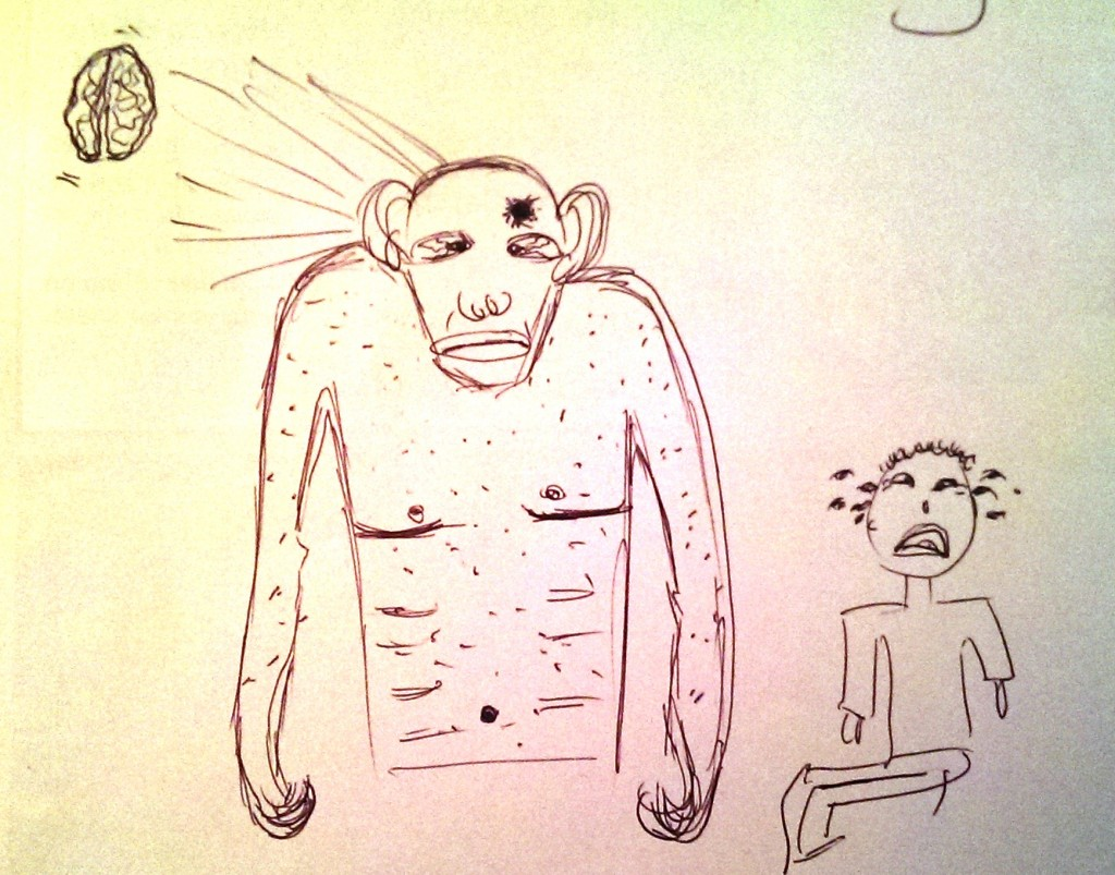 drawing gorilla death1
