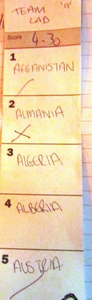 bad answer almania