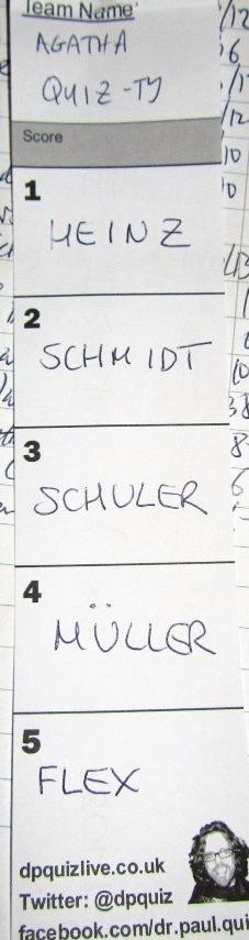 bad answer german names flex
