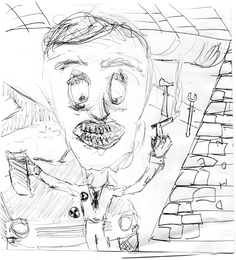 drawing contest nigel farage in a garage (6)