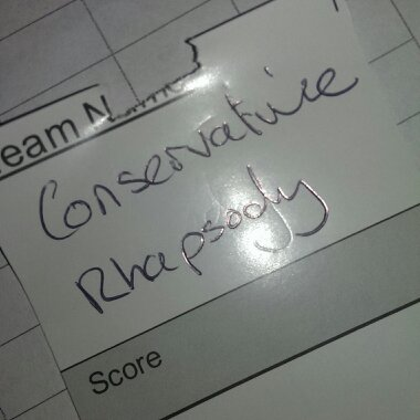 team name conservative rhapsody