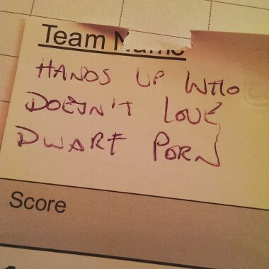 team name hands up who doesnt love dwarf porn
