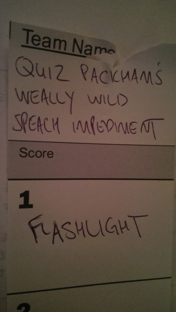 team name quiz packhams wild speech impediment