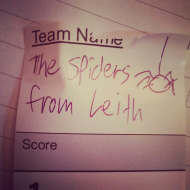 team name spiders from leith
