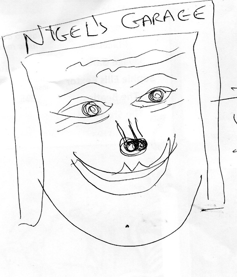 drawing contest nigel farage in a garage (4)