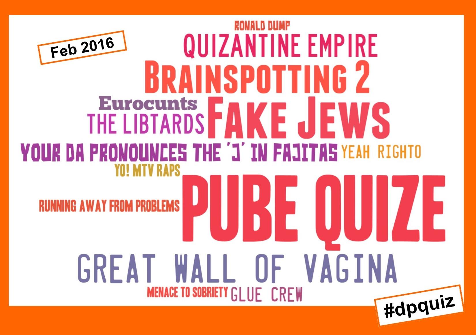 Pub Quiz Team Names from the Dr Paul quiz in Edinburgh