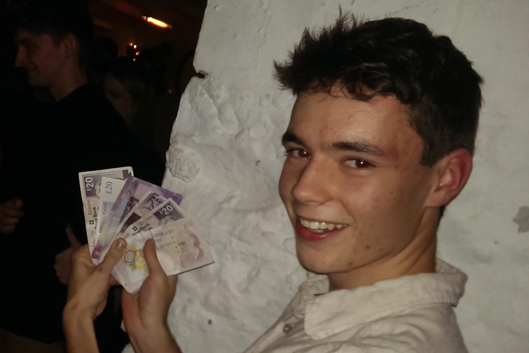 Young jackpot winner