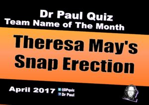 Theresa Mays Snap Erection