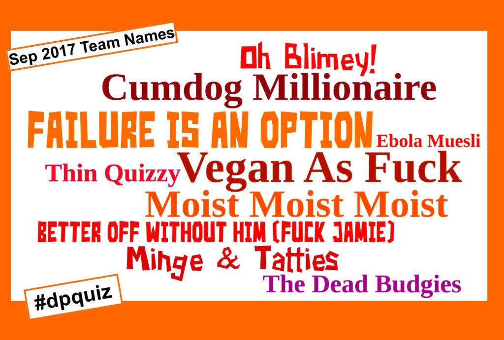 pub quiz team names