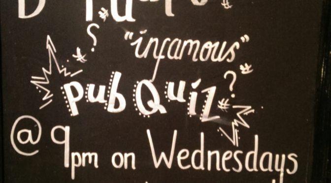 Quizzes Tonight – Wednesday Night In Edinburgh