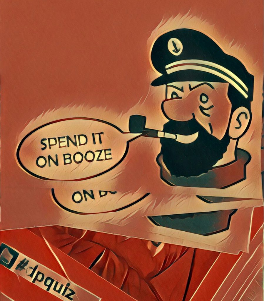 Winners advice from Captain Haddock