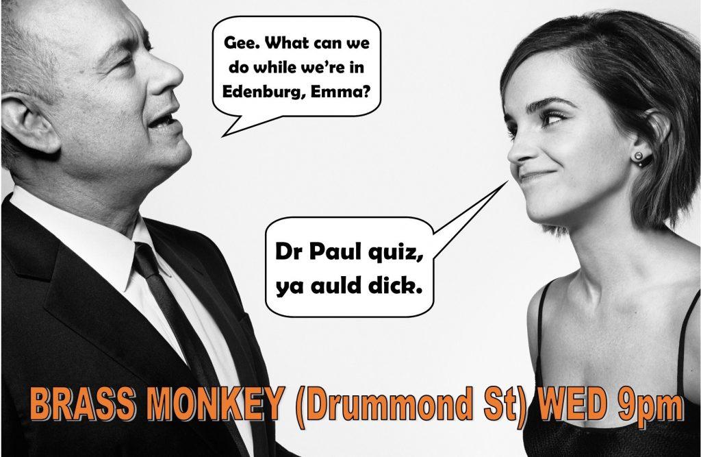 Tom Hanks and Emma Watson at Dr Paul quiz