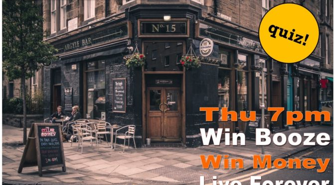 Thursday Pub Quiz Edinburgh