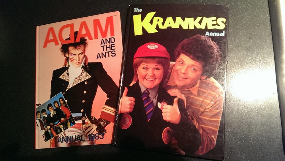 Adam and the Ants and The Krankies 1983 annuals