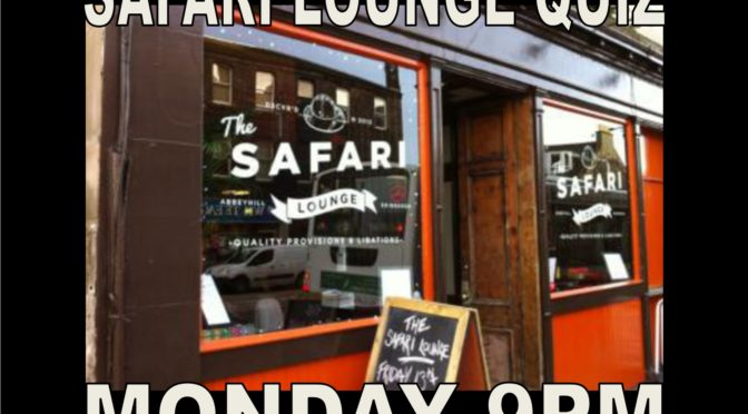 Mon 5th Nov – Quizzes Tonight In Edinburgh