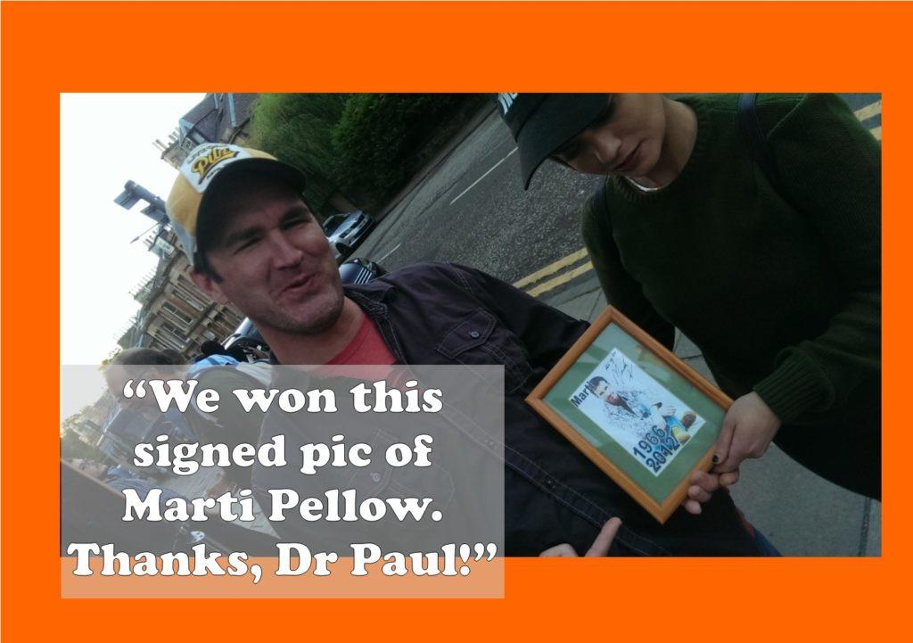 Marti Pellow Prize sensation
