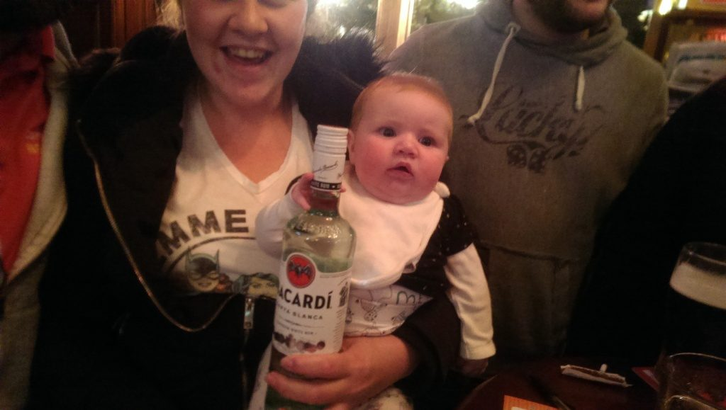 Booze for the baby?