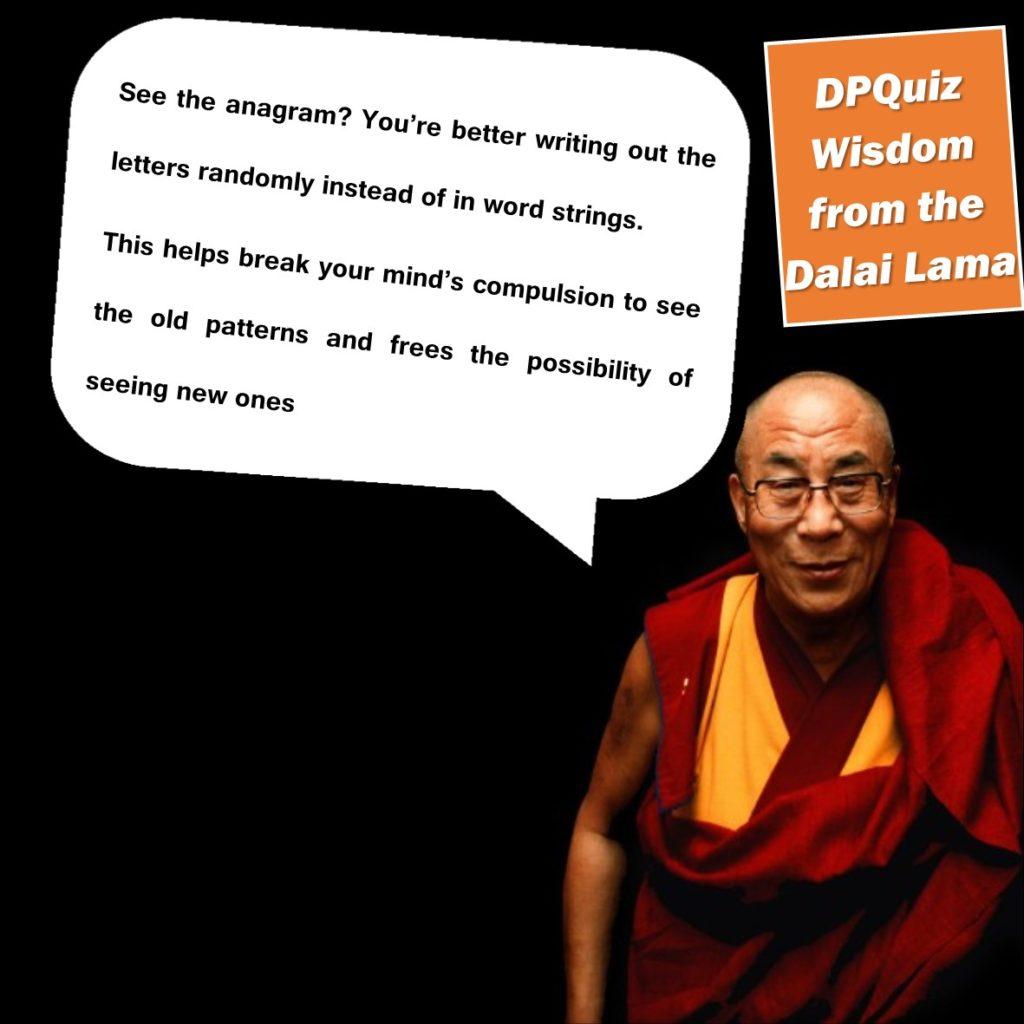 Dalai Lama Quiz Wisdom Anagram