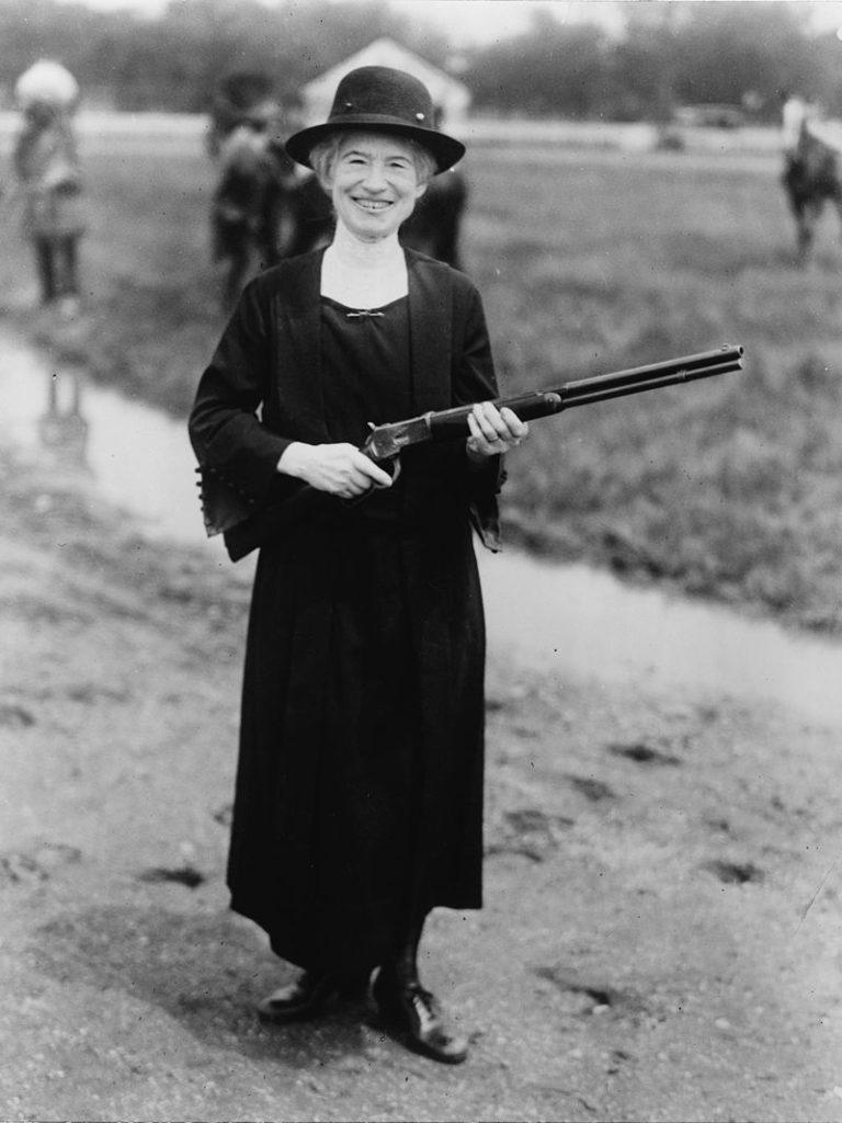The real Annie Oakley, 1922