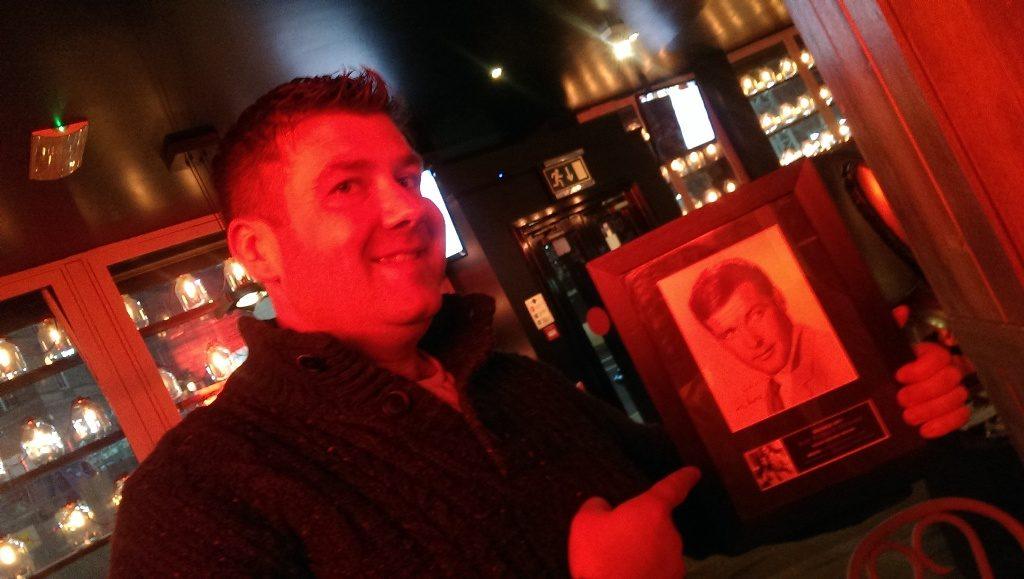Quiz prize: Roger Moore autograph framed