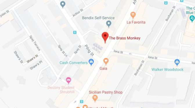 brass monkey leith map