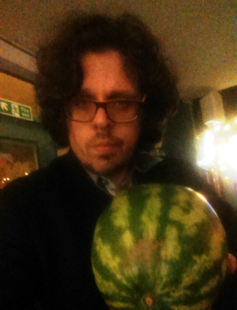 Dr Paul with watermelon