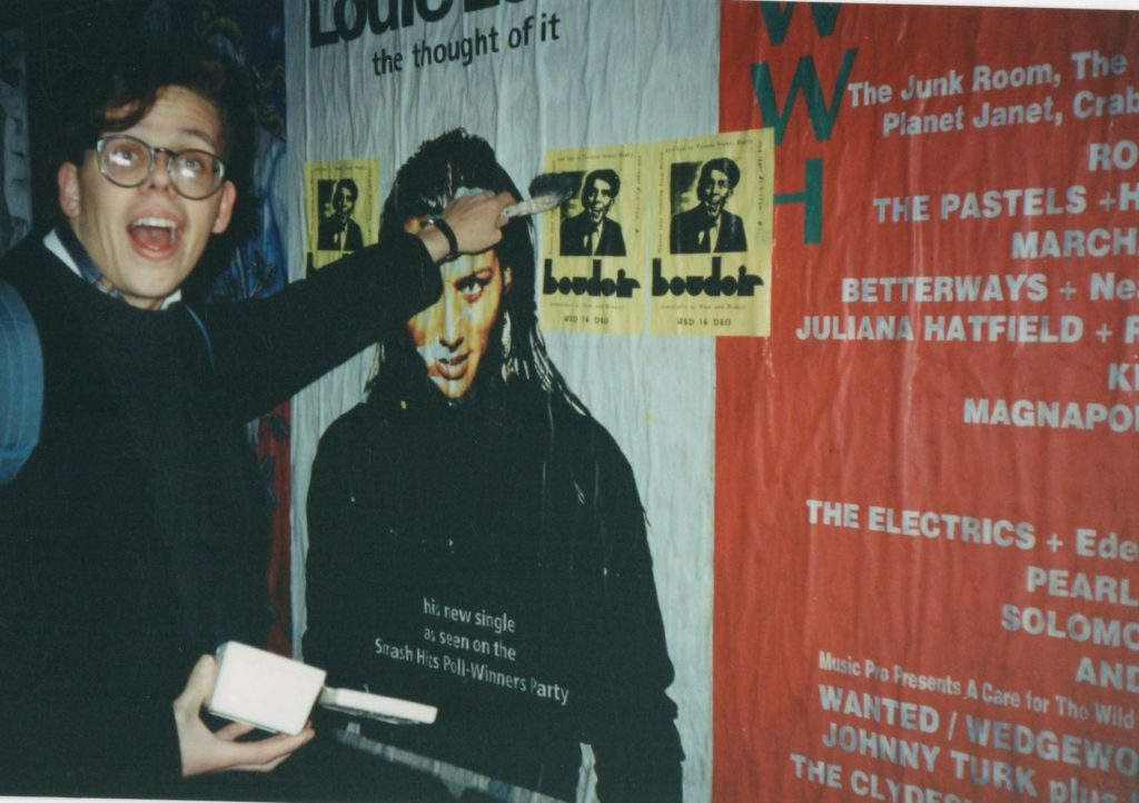 Dr Paul flyering for Boudoir, 1992