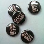 quiz winners badges black