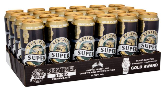 A case of Kestrel Lager