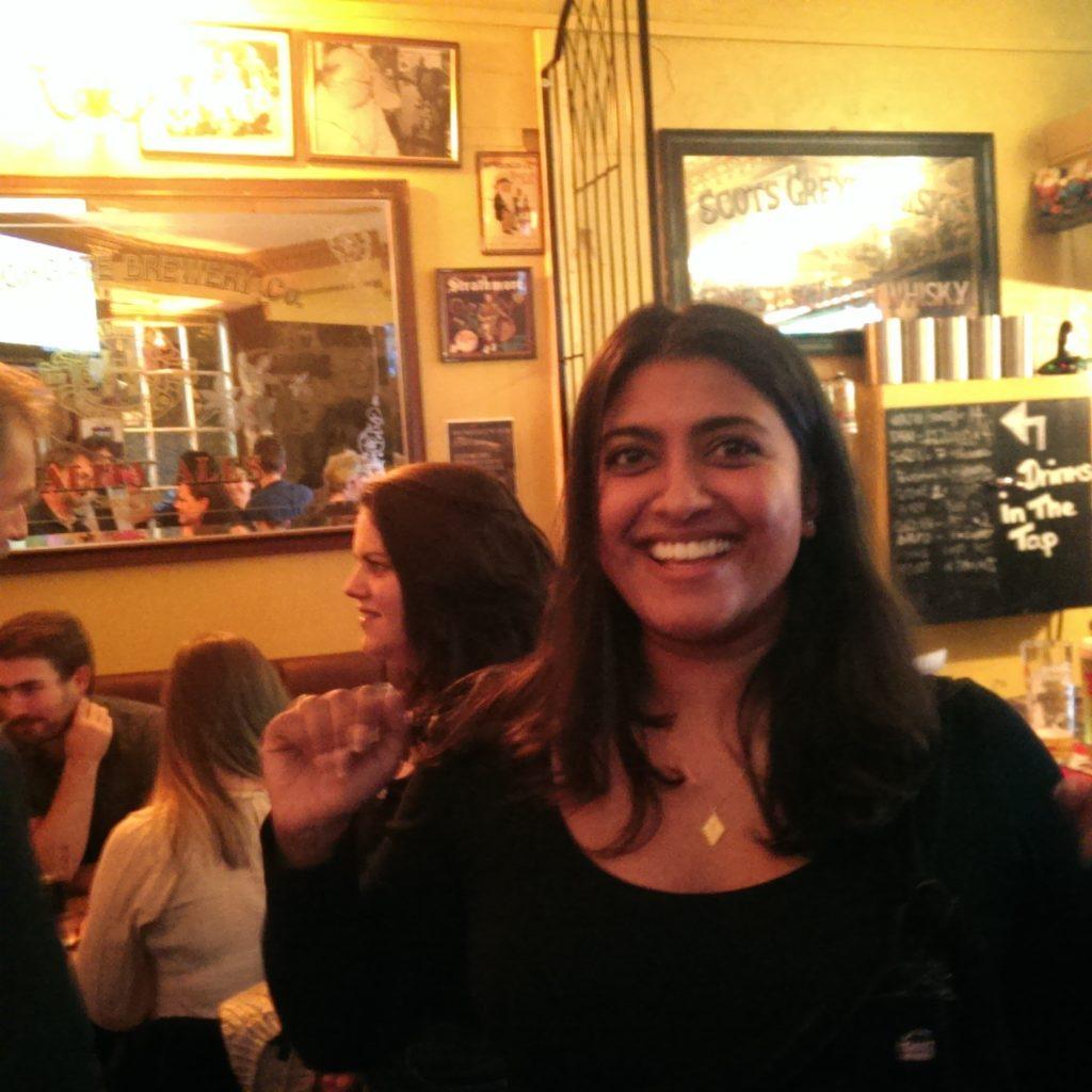 Dr Paul pub quiz winner Asha