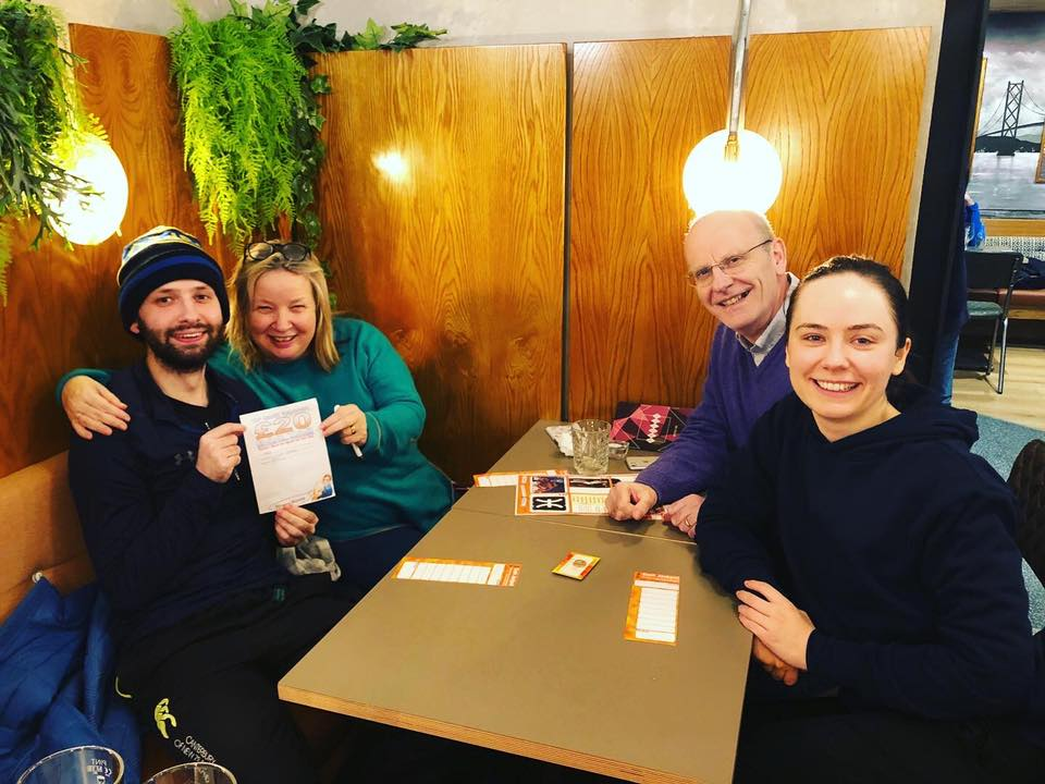 Winners at Basils pub quiz
