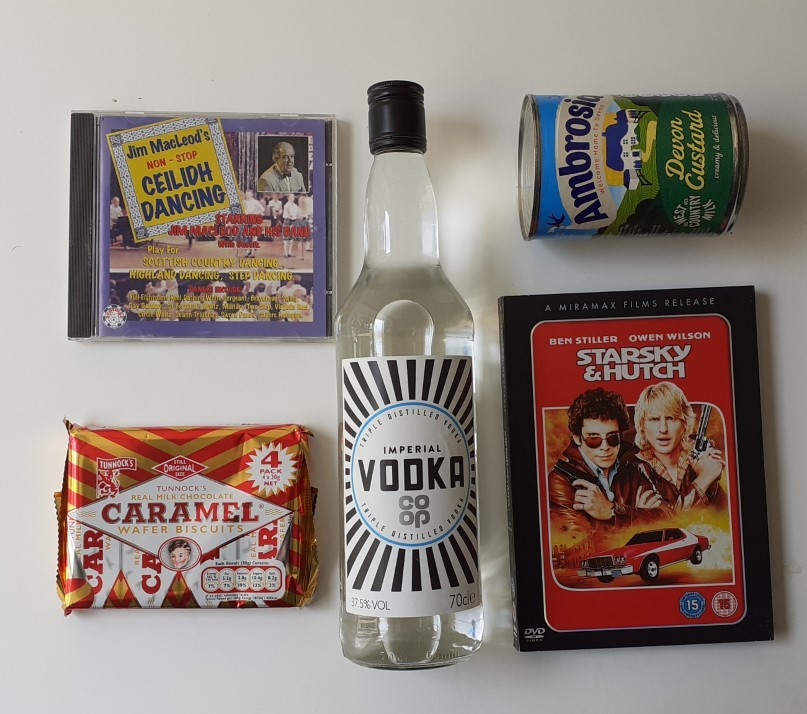 party box #12 including vodka and custard